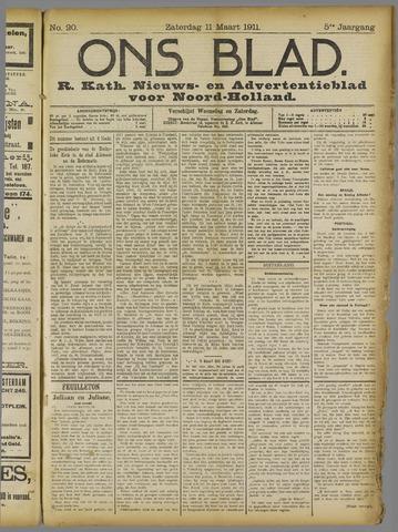 Ons Blad : katholiek nieuwsblad voor N-H 1911-03-11