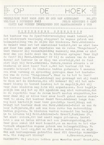 Op De Hoek, weekblad voor Akersloot 1963-11-01