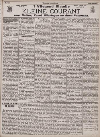 Vliegend blaadje : nieuws- en advertentiebode voor Den Helder 1906-04-11