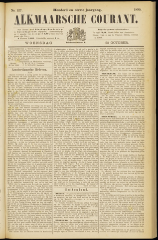 Alkmaarsche Courant 1899-10-25