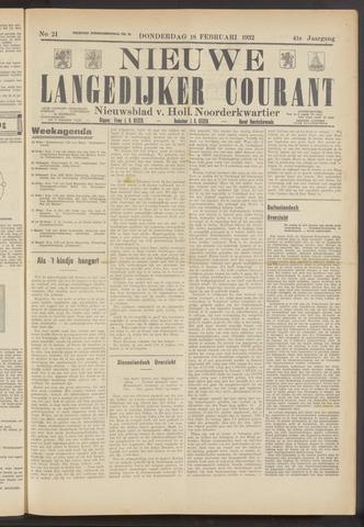 Nieuwe Langedijker Courant 1932-02-18