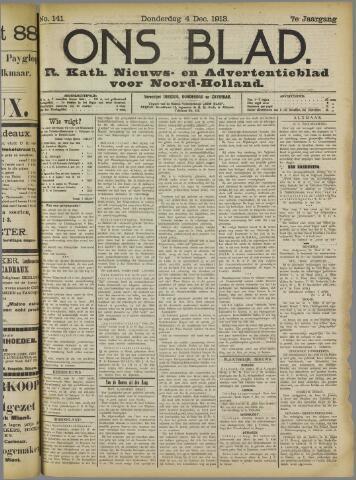 Ons Blad : katholiek nieuwsblad voor N-H 1913-12-04