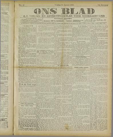 Ons Blad : katholiek nieuwsblad voor N-H 1920-01-16