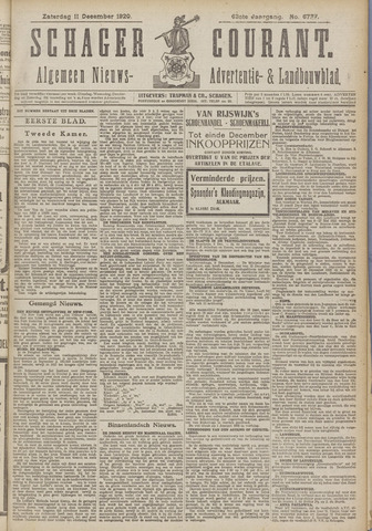 Schager Courant 1920-12-11