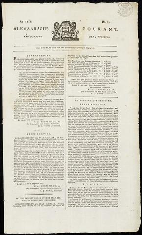 Alkmaarsche Courant 1817-08-04
