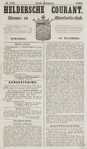 Heldersche Courant 1866-12-12