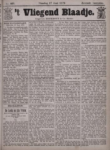 Vliegend blaadje : nieuws- en advertentiebode voor Den Helder 1879-06-17