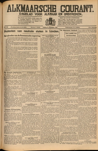 Alkmaarsche Courant 1939-11-24