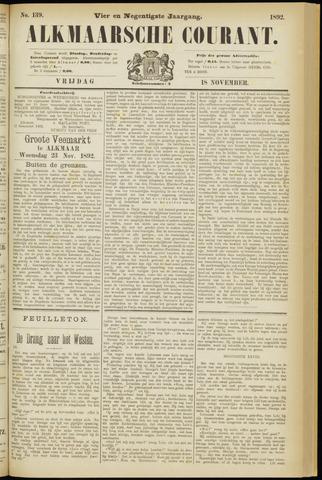 Alkmaarsche Courant 1892-11-18