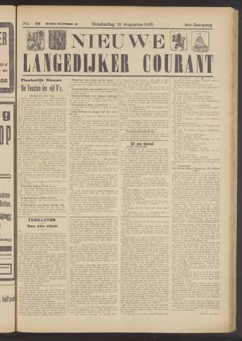 Nieuwe Langedijker Courant 1926-08-19