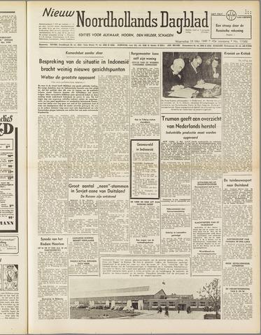 Nieuw Noordhollandsch Dagblad : voor Alkmaar en omgeving 1949-05-18