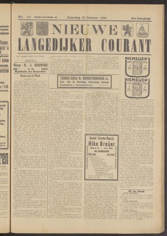 Nieuwe Langedijker Courant 1926-10-16