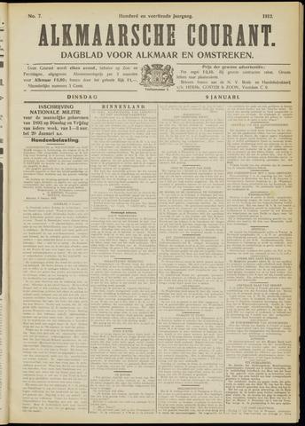 Alkmaarsche Courant 1912-01-09