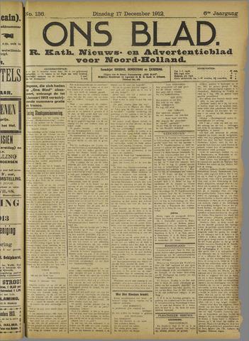 Ons Blad : katholiek nieuwsblad voor N-H 1912-12-17