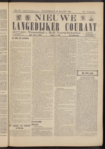 Nieuwe Langedijker Courant 1931-03-26