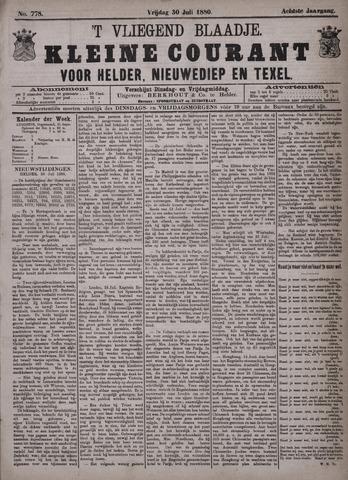 Vliegend blaadje : nieuws- en advertentiebode voor Den Helder 1880-07-30