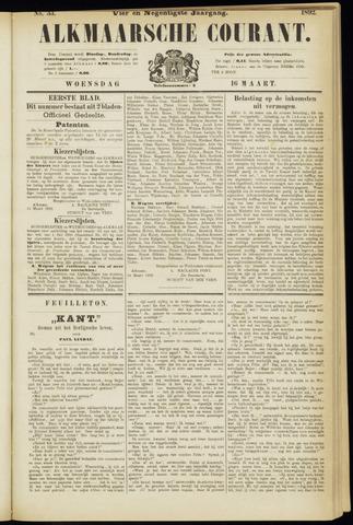 Alkmaarsche Courant 1892-03-16
