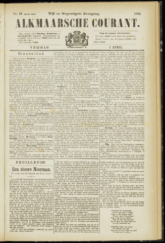 Alkmaarsche Courant 1893-04-07