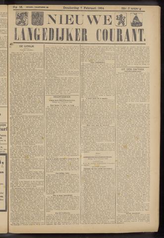 Nieuwe Langedijker Courant 1924-02-07