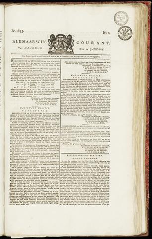 Alkmaarsche Courant 1833-01-14