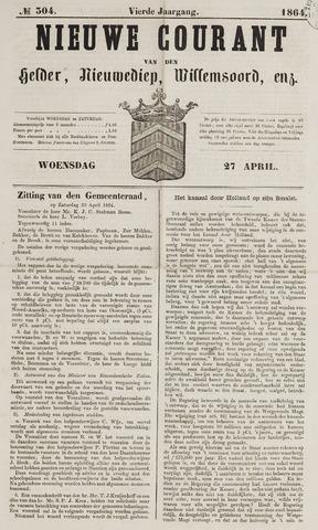 Nieuwe Courant van Den Helder 1864-04-27
