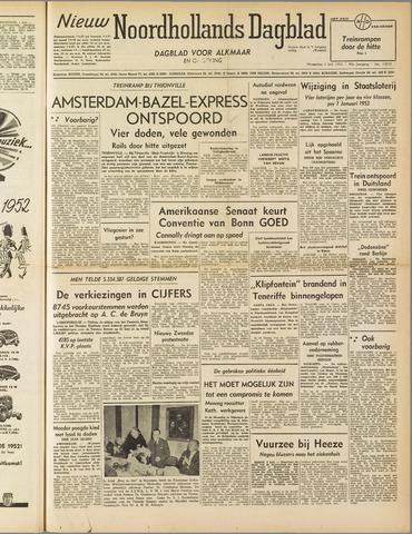 Nieuw Noordhollandsch Dagblad : voor Alkmaar en omgeving 1952-07-02