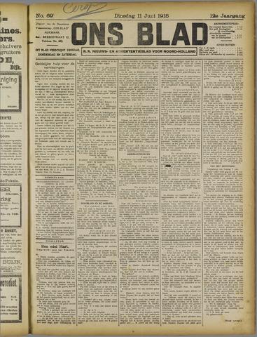Ons Blad : katholiek nieuwsblad voor N-H 1918-06-11