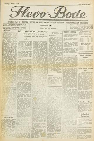 Flevo-bode: nieuwsblad voor Wieringen-Wieringermeer 1948-10-02
