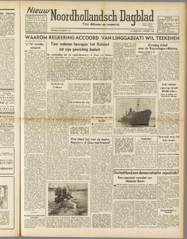 Nieuw Noordhollandsch Dagblad : voor Alkmaar en omgeving 1947-03-22
