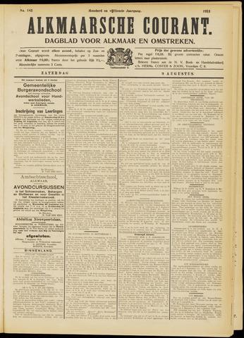 Alkmaarsche Courant 1913-08-09