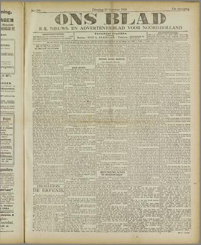 Ons Blad : katholiek nieuwsblad voor N-H 1920-10-19