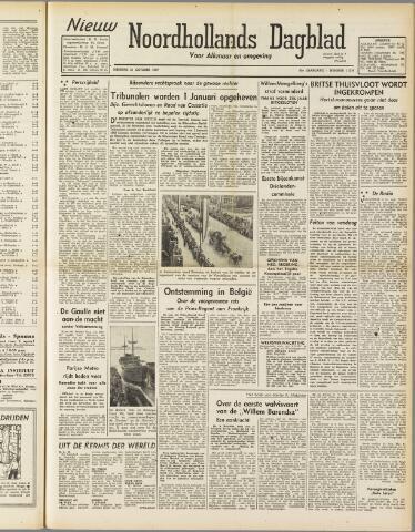 Nieuw Noordhollandsch Dagblad : voor Alkmaar en omgeving 1947-10-21