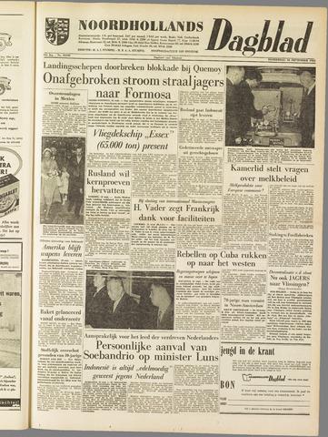 Noordhollands Dagblad : dagblad voor Alkmaar en omgeving 1958-09-18