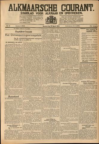 Alkmaarsche Courant 1934-04-12