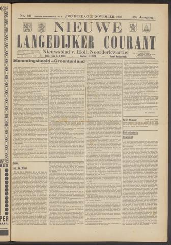 Nieuwe Langedijker Courant 1930-11-27