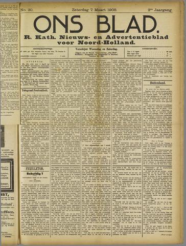 Ons Blad : katholiek nieuwsblad voor N-H 1908-03-07