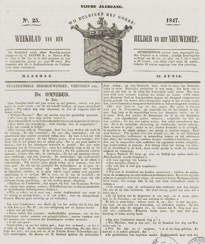 Weekblad van Den Helder en het Nieuwediep 1847-06-21