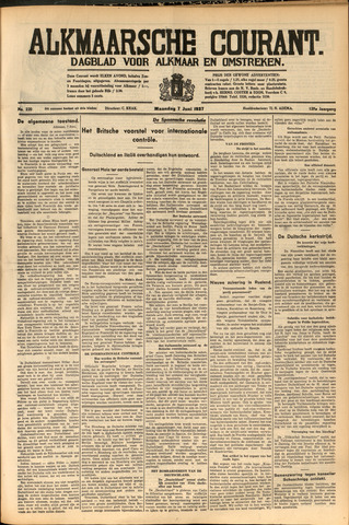 Alkmaarsche Courant 1937-06-07