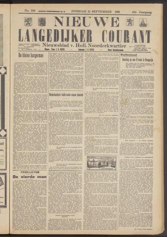 Nieuwe Langedijker Courant 1931-09-15