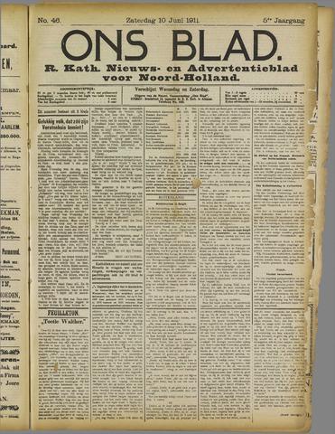 Ons Blad : katholiek nieuwsblad voor N-H 1911-06-10