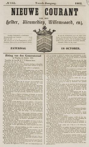 Nieuwe Courant van Den Helder 1862-10-18