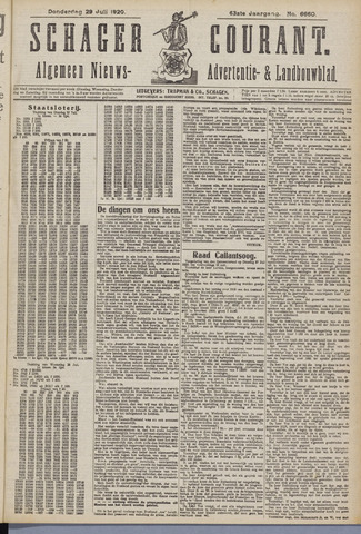 Schager Courant 1920-07-29