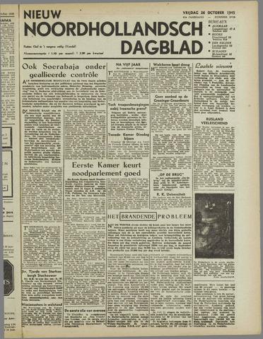 Nieuw Noordhollandsch Dagblad : voor Alkmaar en omgeving 1945-10-26
