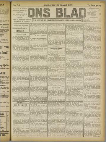 Ons Blad : katholiek nieuwsblad voor N-H 1917-03-22