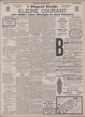 Vliegend blaadje : nieuws- en advertentiebode voor Den Helder 1904-11-30