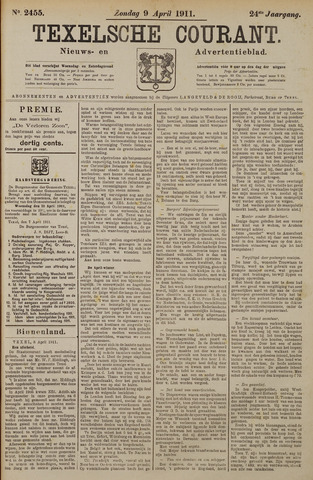 Texelsche Courant 1911-04-09