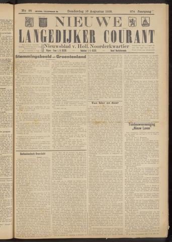 Nieuwe Langedijker Courant 1928-08-16