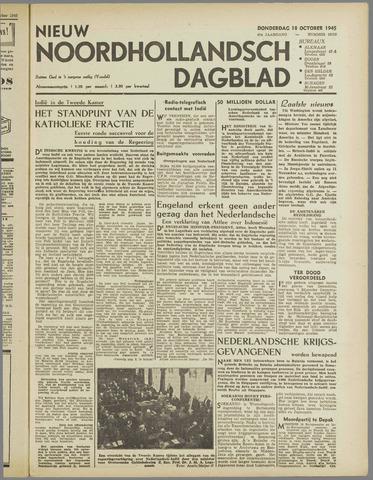Nieuw Noordhollandsch Dagblad : voor Alkmaar en omgeving 1945-10-18