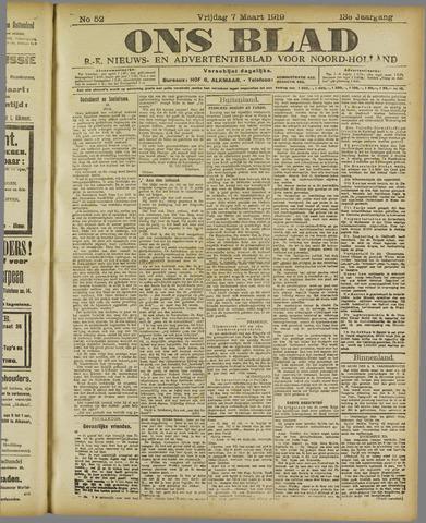 Ons Blad : katholiek nieuwsblad voor N-H 1919-03-07