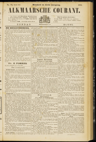 Alkmaarsche Courant 1901-06-23